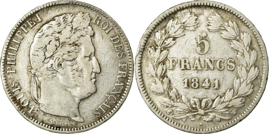 World Coins - Coin, France, Louis-Philippe, 5 Francs, 1841, Lille, VF(20-25), Silver