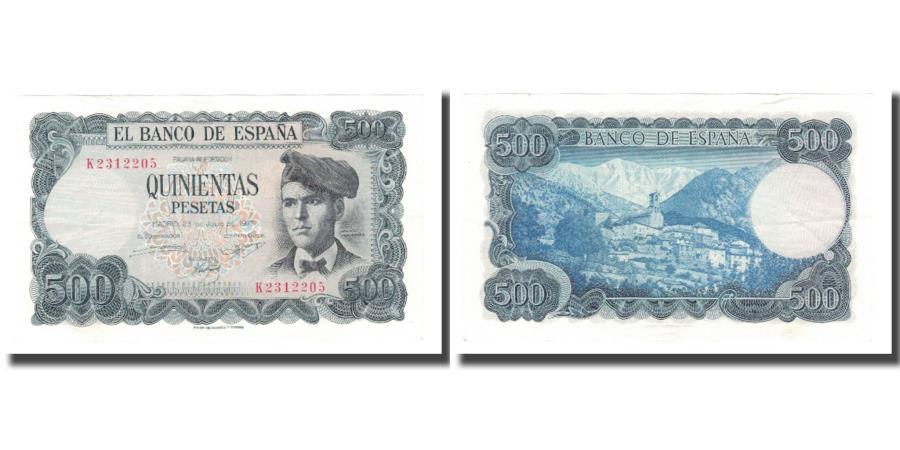 World Coins - Banknote, Spain, 500 Pesetas, 1971, 1971-07-23, KM:153a, AU(55-58)