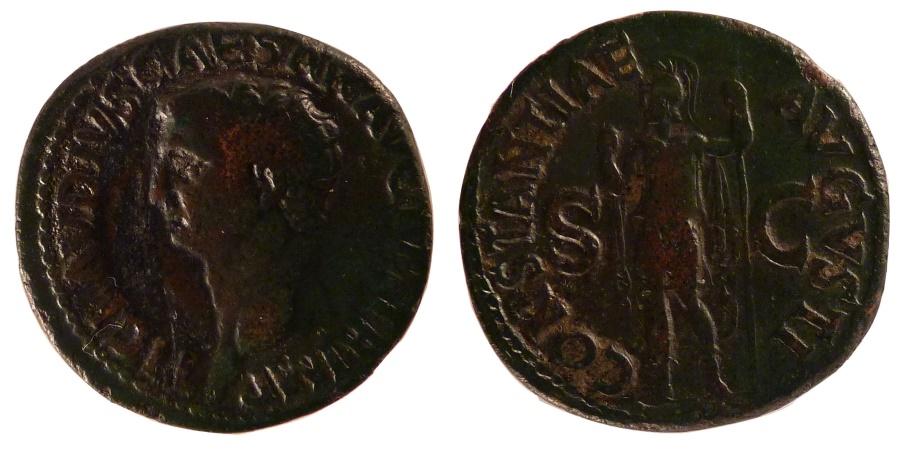 Ancient Coins - Claudius, As, , Bronze, Cohen #14, 10.80
