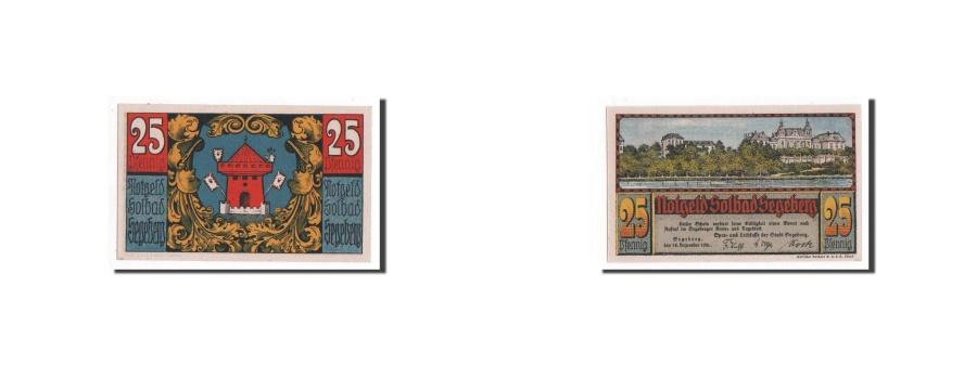 World Coins - Germany Segeberg 25 Pfennig 1920 1920-12-18 UNC(65-70) Mehl:1218.1