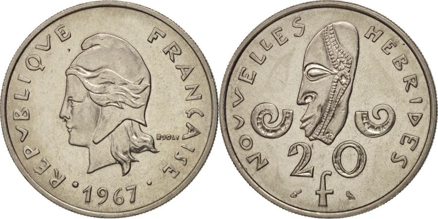 World Coins - New Hebrides, 20 Francs, 1967, Paris, , Nickel, KM:3.1