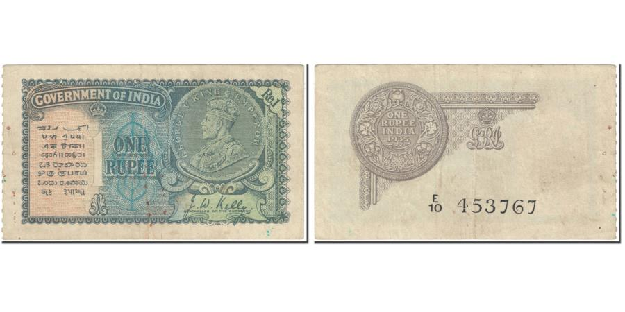 World Coins - Banknote, India, 1 Rupee, 1935, Undated (1935), KM:14b, EF(40-45)
