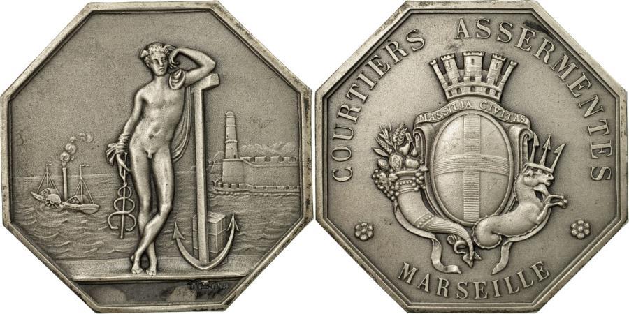 World Coins - France, Token, Assurances, Courtiers Assermentés de Marseille, Dubois,