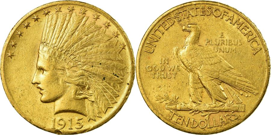 US Coins - Coin, United States, Indian Head, $10, Eagle, 1915, Philadelphia,