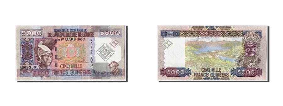 World Coins - Guinea, 5000 Francs, 2010, KM:44, 2010-03-01, UNC(65-70)