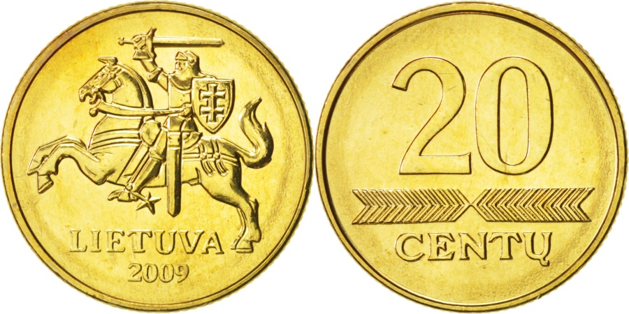 World Coins - Lithuania, 20 Centu, 2009, , Nickel-brass, KM:107