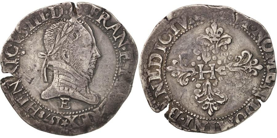 World Coins - Henri III, Franc au Col Plat, 1578, Tours, , Silver, Sombart:4714