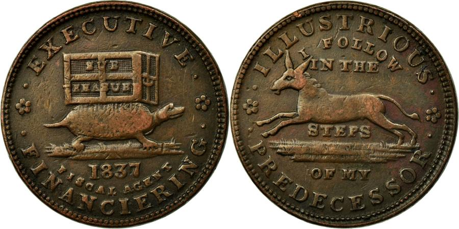 US Coins - Coin, United States, Hard Times Token, 1837, , Copper