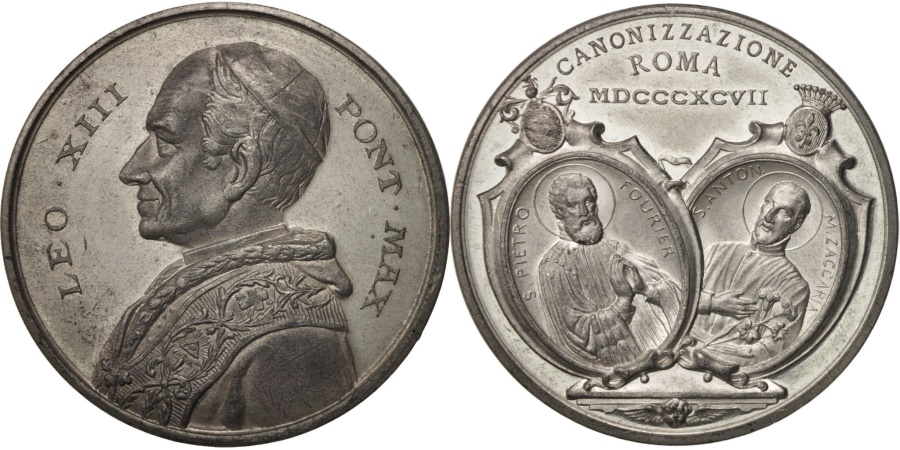 World Coins - Vatican, Medal, Leo XIII, Cannonisation St Peter Fourier and St Antony Zaccaria