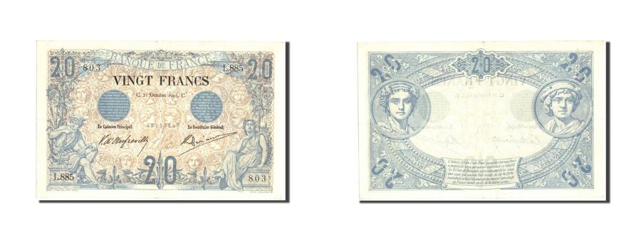 World Coins - France, 20 Francs, 20 F 1874-1905 ''Noir'', 1904, KM:61a, 1904-10-21, AU(55-58)