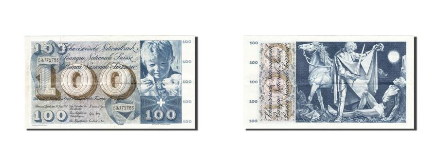 World Coins - Switzerland, 100 Franken, 1954-1961, 1967-06-30, KM:49j, EF(40-45)
