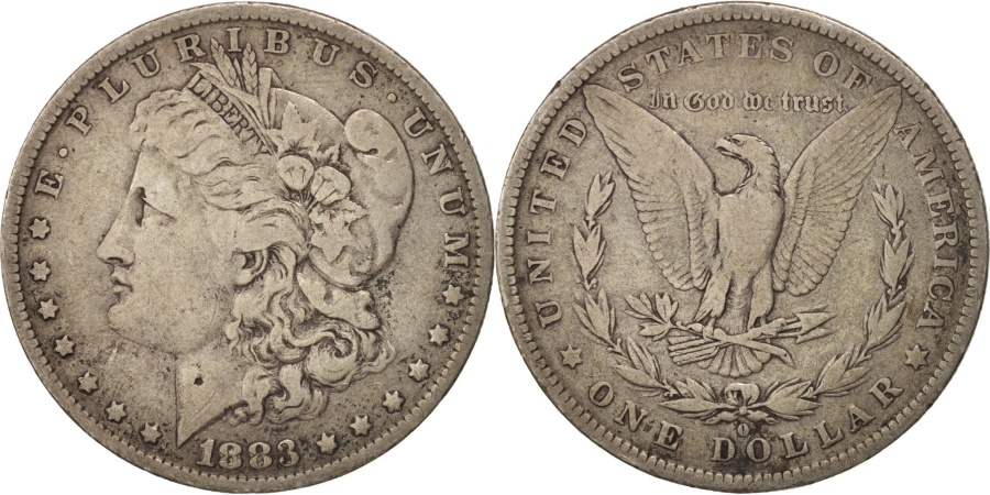 US Coins - United States, Morgan Dollar, Dollar, 1883, U.S. Mint, New Orleans,