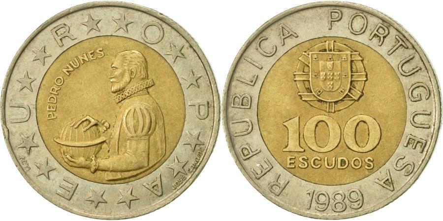 World Coins - Portugal, 100 Escudos, 1989, , Bi-Metallic, KM:645.1