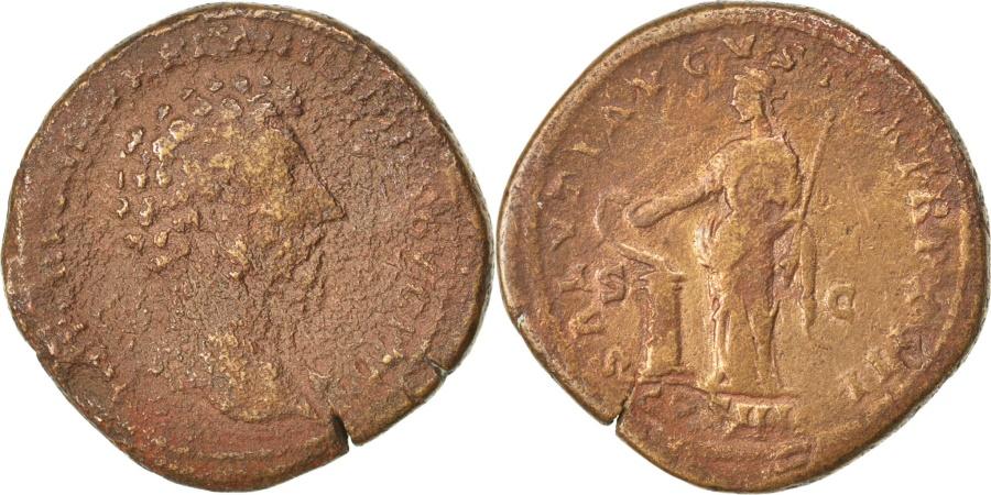 Ancient Coins - Marcus Aurelius, Sestertius, , Copper, Cohen #562, 23.00