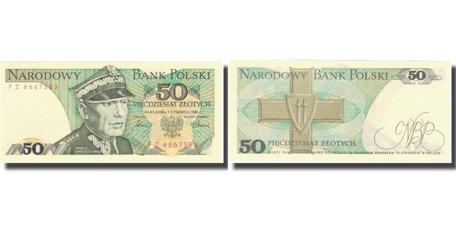 World Coins - Banknote, Poland, 50 Zlotych, 1986, 1986-06-01, KM:142c, AU(55-58)
