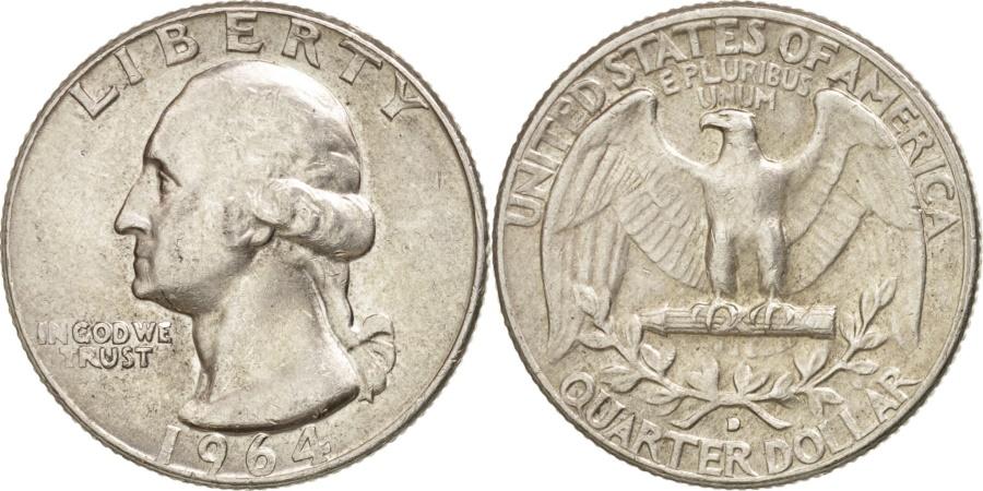 US Coins - United States, Jefferson Nickel, 5 Cents, 1964, U.S. Mint, Denver,