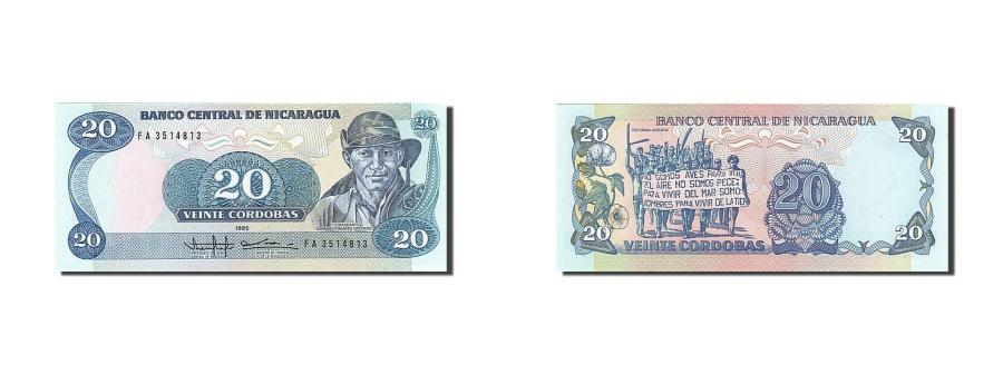 World Coins - Nicaragua, 20 Córdobas, 1985, KM #152, UNC(63), FA 3514813