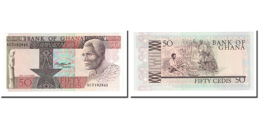 Ghana 50 Cedis BANKNOTE 1980 UNC