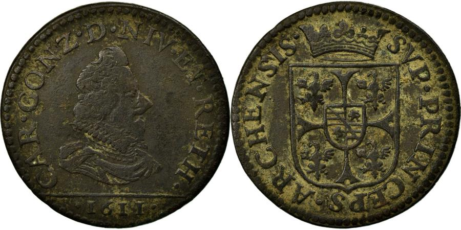 World Coins - Coin, FRENCH STATES, NEVERS & RETHEL, 2 Liard, 1611, Charleville, VF(30-35)