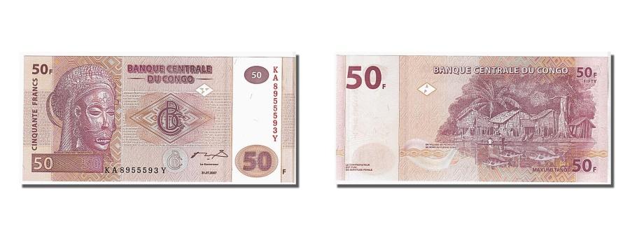 World Coins - Congo Democratic Republic, 50 Francs, 2007, KM #97a, UNC(65-70), KA8955593Y