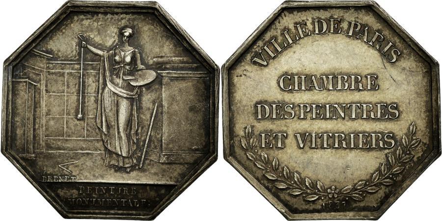 World Coins - France, Token, Trades, 1837, Brenet, MS(60-62), Silver