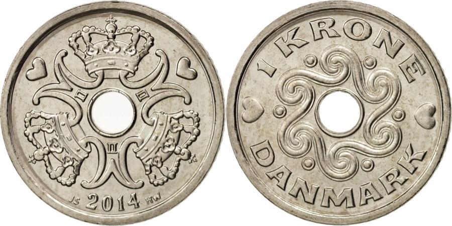 World Coins - Denmark, Krone, 2014, , Copper-nickel