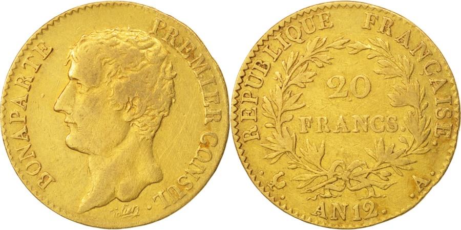 World Coins - France, Napoléon I, 20 Francs, AN 12, Paris, Gold, KM:651, Gadoury:1020