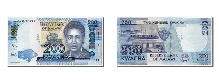 World Coins - Malawi, 200 Kwacha, 2012, KM #60, UNC(65-70), AE2764060