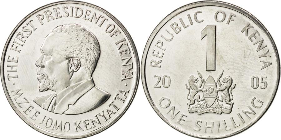 World Coins - KENYA, Shilling, 2005, British Royal Mint, KM #34, , Nickel Plated Steel,.