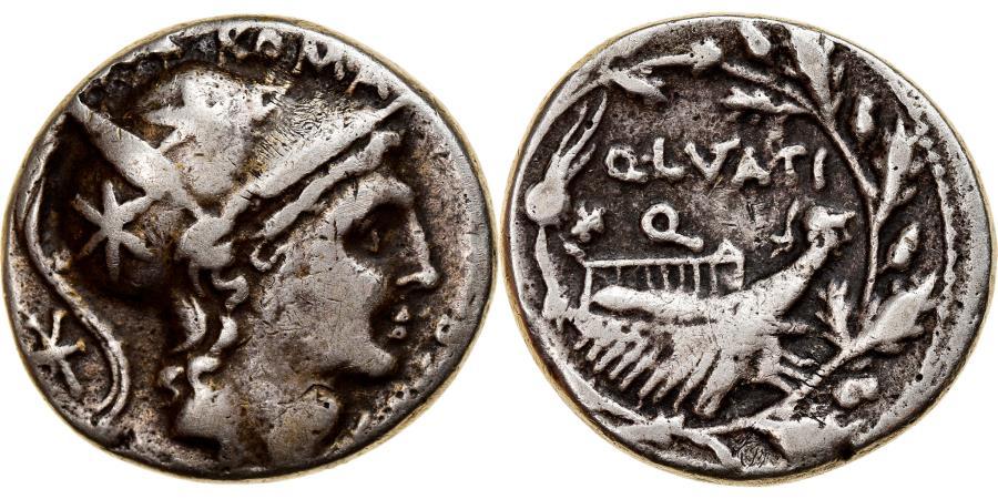 Ancient Coins - Coin, Lutatia, Denarius, 109-108 BC, Rome, , Silver, Crawford:305/1