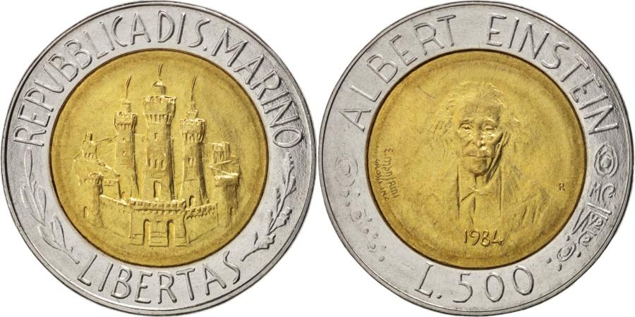 World Coins - SAN MARINO, 500 Lire, 1984, KM #167, , Bi-Metallic, 25.8, 6.80