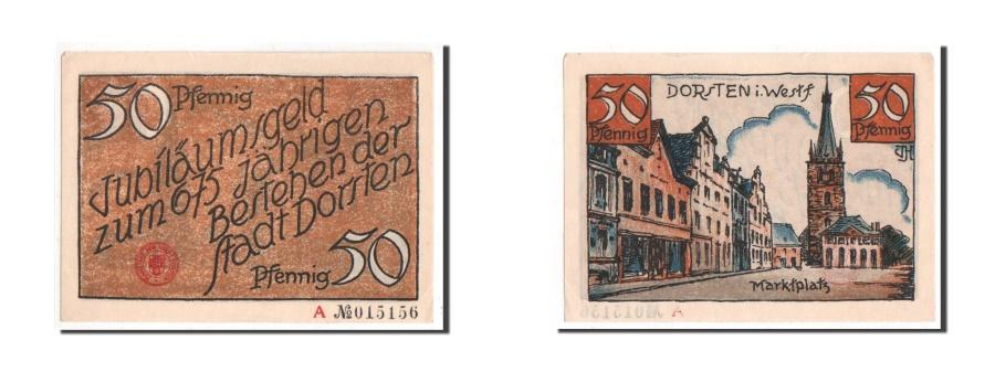 World Coins - Germany, Dorsten, 50 Pfennig, AU(55-58), A 015156, Mehl #282.1