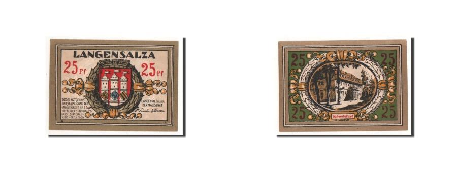 1921 Germany LANGENSALZA  50 Phennig Notgeld Banknote