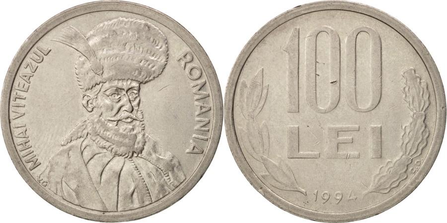 World Coins - Romania, 100 Lei, 1994, , Nickel plated steel, KM:111