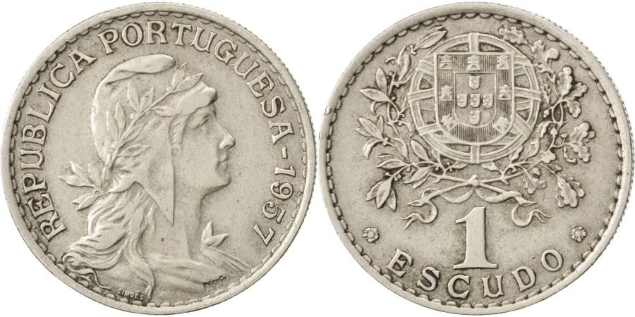 World Coins - PORTUGAL, Escudo, 1957, KM #578, , Copper-Nickel, 26.7, 8.03