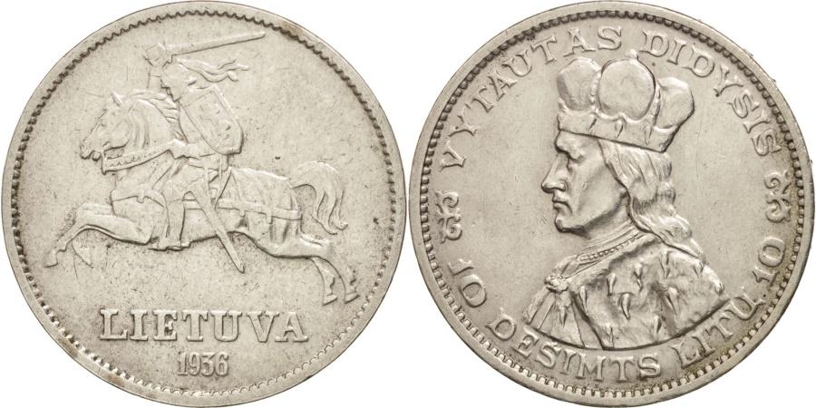 World Coins - Lithuania, 10 Litu, 1936, , Silver, KM:83
