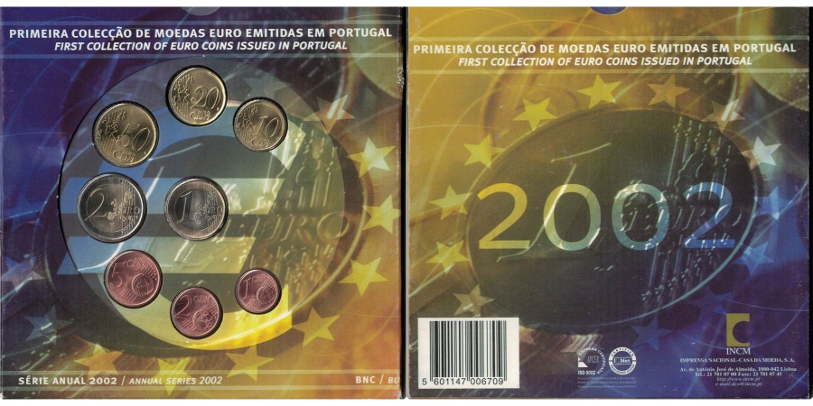 World Coins - Portugal, Euro Set of 8 coins, 2002