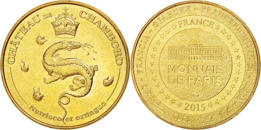 World Coins - France, Tourist Token, 41/ Château de Chambord - Nutrisco et Extinguo, 2015, MDP
