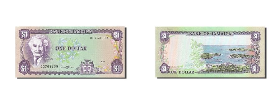 World Coins - Jamaica, 1 Dollar, 1989, KM #68Ac, 1989-07-01, UNC(65-70), DG 763239