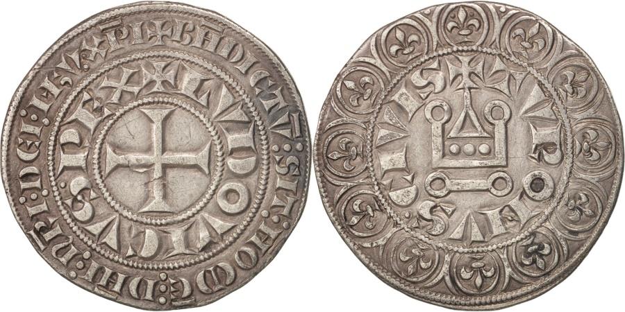 World Coins - France, Louis IX, Gros Tournois, , Silver, Duplessy:190A