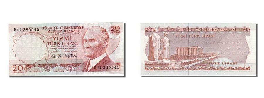 World Coins - Turkey, 20 Lira, 1970, KM #187a, UNC(65-70), H41385545