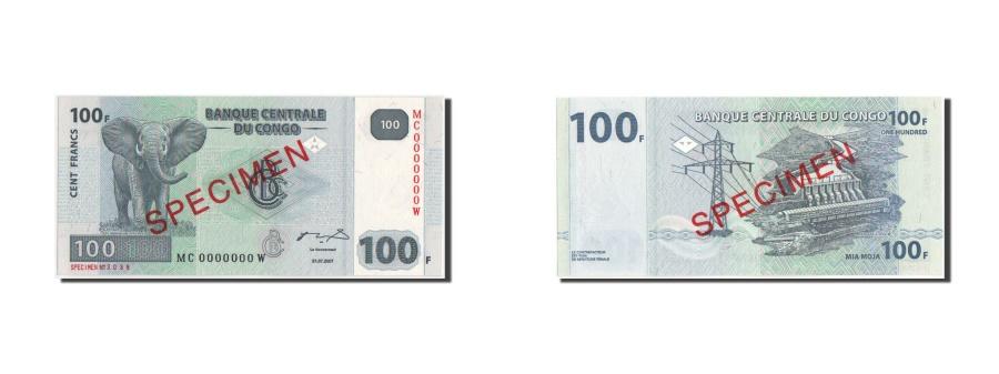 World Coins - Congo, 100 Francs, 31.07.2007, SPECIMEN, KM:98s, UNC