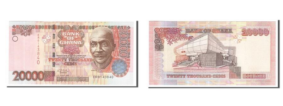 World Coins - Ghana, 20,000 Cedis, 2003, KM #36b, 2003-08-04, UNC(65-70), ER0143840