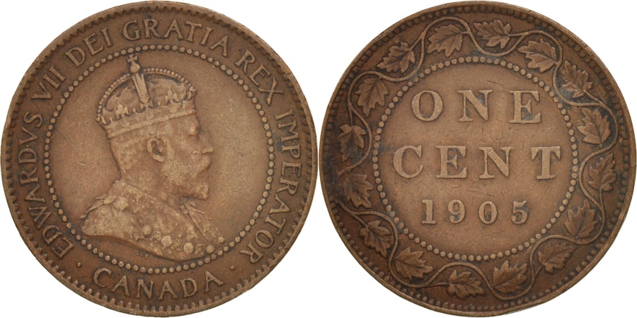 World Coins - Canada, Edward VII, Cent, 1905, Royal Canadian Mint, Ottawa, , Bronze