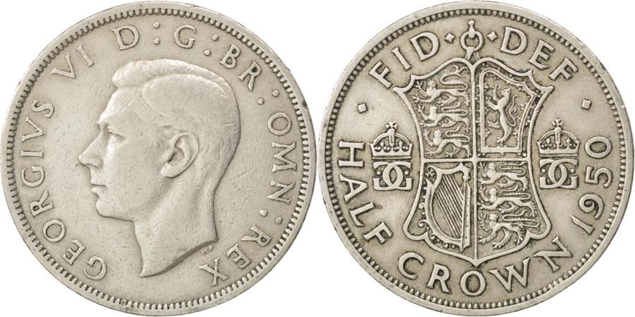 World Coins - GREAT BRITAIN, 1/2 Crown, 1950, KM #879, , Copper-Nickel, 32.3, 14.03