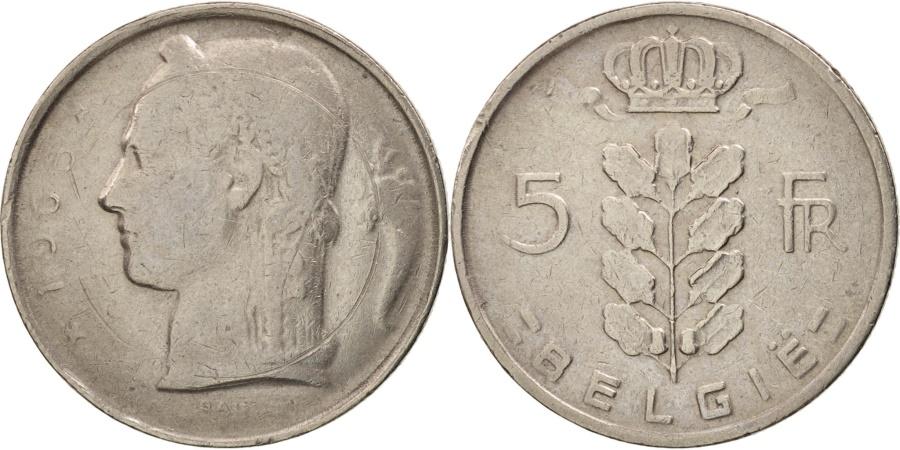 World Coins - Belgium, 5 Francs, 5 Frank, 1965, , Copper-nickel, KM:135.1