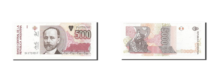 World Coins - Argentina, 5000 Australes, Undated (1989-91), KM:330e, UNC(65-70)