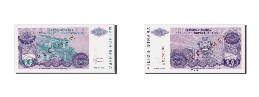 World Coins - Croatia, 1 Million Dinara, 1994, Undated, KM:R33s, UNC(65-70), A0000000
