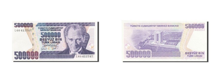 World Coins - Turkey, 500,000 Lira, 1984-1997, KM:208, 1993, UNC(65-70)