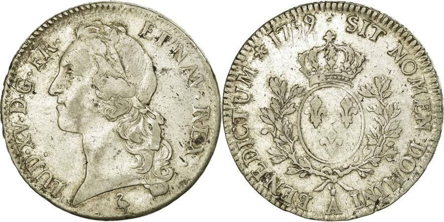 World Coins - Coin, France, Louis XV, Écu au bandeau, Ecu, 1759, Paris, AU(50-53), Silver